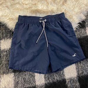 Hollister navy swim trunks XS
